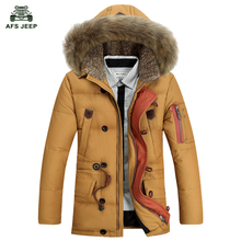 Free shipping 2017 Down Jacket Winter Jacket Men Coat White Duck Long Thicken Outwear Fur Hooded Men's Parka 168hfx(China)