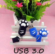 @usb stickBest qualityHot  Cartoon  tiger Paw USB 3.0 Flash Memory Stick Pen Drive 8GB 16GB 32GB 64GB Creative Pendrives 3ZZ3