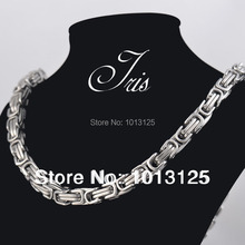 Buy 8.0mm*55cm big heavy stainless steel men punk silver necklace chains vintage steel jewelry necklace wholesale 10pcs/lot for $86.00 in AliExpress store