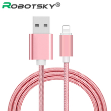 0.25m 1m 1.5m 2m Nylon USB Cable for iPhone 5S 7 6 6S iPad 2A Fast Data Charger Cable for iPhone USB Phone Cable