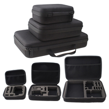 Brand New Portable Carry Case Small Medium Large Size Accessory Anti-shock Storage Bag for Gopro Hero 3/4 Sj 4000 XiaomiYi