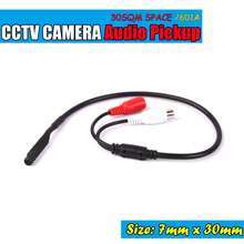 Mini Audio CCTV Microphone Surveillance Wide Range Sound Pickup Audio Monitor for Security Camera(China)