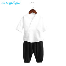 Every Night Summer Children Clothes Sets Boys Girls Half Sleeve T-shirt Middle Pants Set Sports Suit Kids Baby Boy Girl Clothing