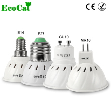 ECO CAT New Arrival GU10 MR16 E27 LED Lamp 220V240V SMD 2835 5050 SMD LED Spotlight 4w 6w 8w Light Bulbs LED for Home Chandelier(China)
