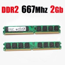 RAM ddr2 667 2Gb / 667Mhz PC2 5300 PC2-5300 DIMM RAM ddr2 2 gb 2G 4gb memory for AMD for all desktop - lifetime warranty(China)