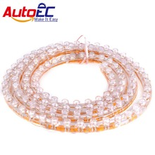 AutoEC 10X 24/48/72/96/120CM Flexible LED Strip Soft PVC DRL Car Motorcycle Black license plate light Luces LED Great Wall(China)