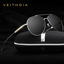 VEITHDIA Fashion Brand Unisex Designer Aluminum Men Sun Glasses polarized Mirror Male Eyewear Sunglasses For Wommen Men 6696
