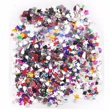 2000PC Crystal Clear Colorful Flatback Design Nail Rhinestone For Nails 3D Nail Art Decoration Gems Manicure Stones Sticker