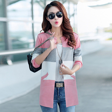 New Things take a long-sleeved knit cardigan 2016 Korean version of the Spring and Autumn women new long sweater coat tide
