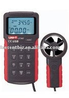 UNI-T UT362 2.7 LCD Digital Wind Speed Meter Anemometer High Precision Anemoscopes w/ USB Interface Air Flow Meter<br><br>Aliexpress