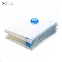 SAFEBET High Quality Transparent Plastic Saver Space Seal Vacuum Storage Bags For Clothes Compressed Organizer Bag Multi-size