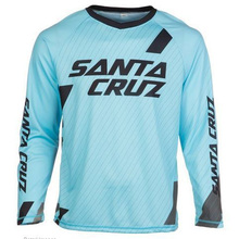 2017 New Santa Cruz Mountain Bike Jersey Breathable Downhill Cycling Long Sleeves Motocross Jersey  Cycling Clothes