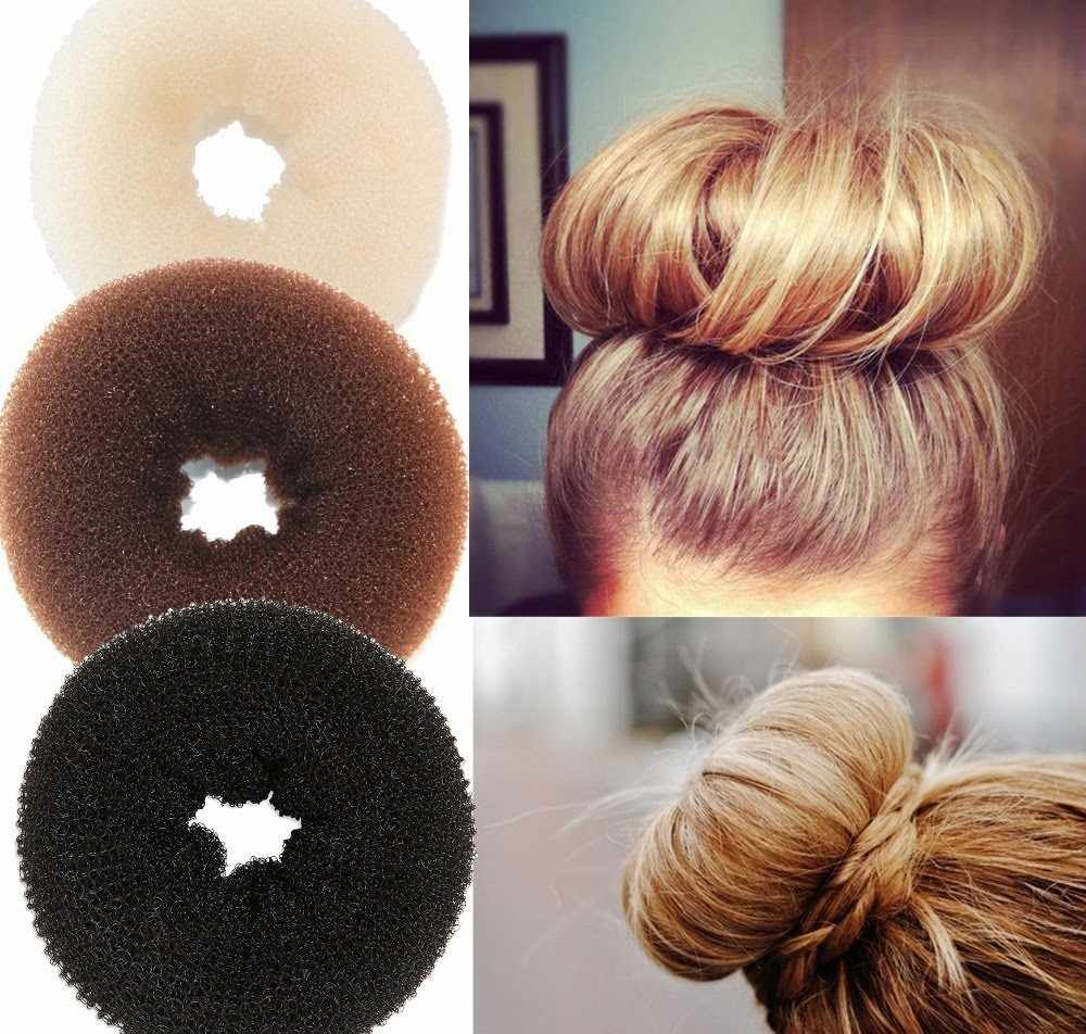 New Plate Hair Donut Bun Maker Magic Foam Sponge Hair