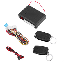 Universal Car Alarm Systems 12V Auto Remote Central Kit Door Lock Locking Vehicle Keyless Entry System With Remote Controllers(China)