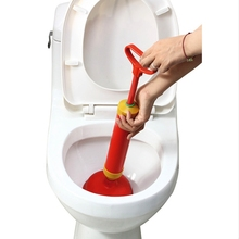NEW Handle Powerful Suction Plunger Toilet Dredger Cleaner Drain Buster With Two Suckers For Sink Cleaning Tool(China)