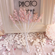 13CM,10PCS Artificial Pearl Beads,Floral Stamens,Mini berries,Wedding Bouquet, Cake Decoration Accessories,DIY Hair Garland(China)