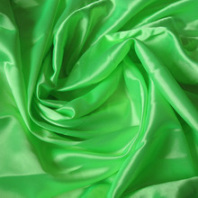 Faux silk green neon solid color lining fabric interlining water soluble lace lining fabric(China)
