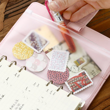 Transparent PVC Storage Bag for Traveler's Notebook Diary Day Planner Zipper Bag Business Cards, Notes Pouch,receipt Bag(China)