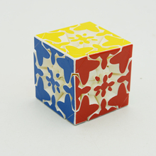 Fangcun Rapid 3x3x3 Mixup Gear Cube Heat Printing 3D Puzzle Cubes Educational Toy Special Toys For Children No Stikckes(China)