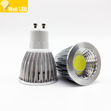 10x GU10 COB LED 6W 9W 12W gu 10 led Dimmable lamp Led Spotlight AC85-265V CE/RoHS Warm White/Cool White E27/MR16/GU10