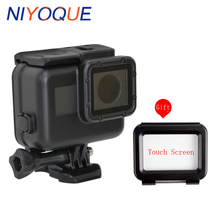 Go Pro Accessories 60M waterproof Case for Gopro Hero 6 Gopro Hero 5 Black Waterproof Housing Case + Touch Screen Backdoor Cover(China)