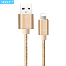 USB Cable 1m/2m Nylon Braided Micro USB Cable Charging Sync Data USB Cable For iphone 7 6 6s Plus 5s ipad mini Samsung HTC