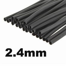 2017 Best Promotion 1PC Polyolefin 2:1 1.22m Length 2.4mm Internal Diameter Black Heat Shrink Tubing Tube Sleeve Sleeving(China)