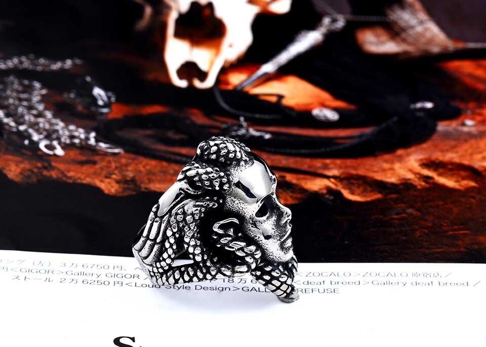แหวนโคตรเท่ห์ Code 024 แหวน Medusa สแตนเลส6
