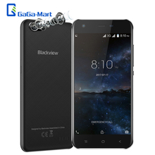 Blackview A7 3G WCDMA Smartphone Android 7.0 MTK6580A Quad core 1GB+8GB 5.0MP+0.3MP Dual Rear Camera 5.0 Inch HD Mobile Phone