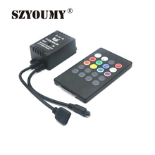 SZYOUMY 20 Key Music Voice Sensor RGB Led Controller Sound IR Remote Control Practical Home Party Useful RGB 5050 3528 LED Strip