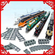 GBL 98215 Straight & Curved Rail Tracks For Train Model Building Block DIY Educational Toys For Children Compatible Legoe