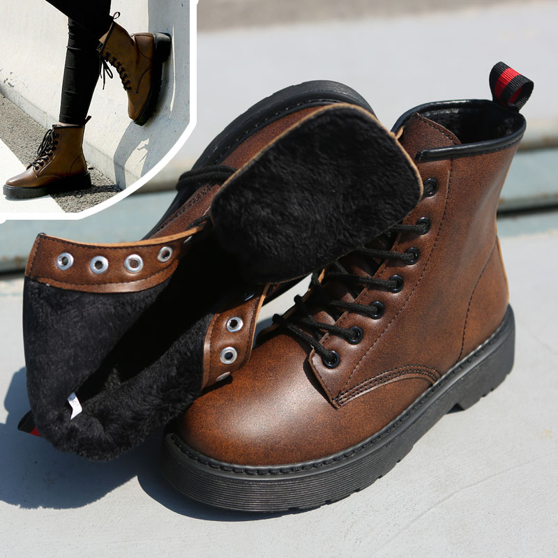 Winter Lace-Up Sexy Women Boots Fashion Platform punk high square heels Black Buckle Ankle boots Plus Size 34-43<br><br>Aliexpress
