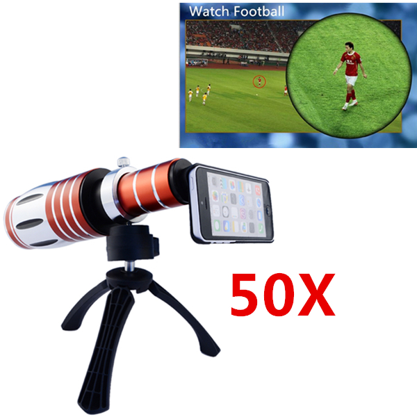 High end 3in1 50X Metal Telephoto Zoom font b Lens b font For iPhone 5 5s
