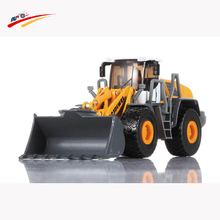 Alloy Diecast Shovel Loader 1:50 4 Wheel Loader Pull Back/ABS Bulldozer Sound Construction Truck Model For Kids Hobby Toys(China)