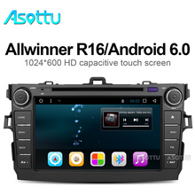 android 6.0 car dvd player for Toyota corolla 2007 2008 2009 2010 2011 in dash 2 din 1024*600 car dvd gps navigation in dash gps