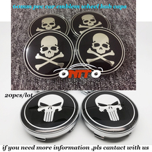 20(set of) 60mm 2.36inch car emblem wheel hub caps badge For Skull/Bone logo PVC base car styling auto covers label auto model(China)