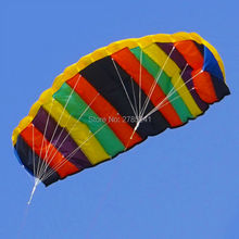 high quality 55 inch Soft Stunt Sport Parafoil colorful Kite surfing dual line kites toys for kids with flying line