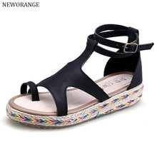 2017 Fashion Gladiator Sandals Women Flat Cut Out Summer Beach Flip Flops Shoes Women Espadrilles Plus Size 34-43 WSS192
