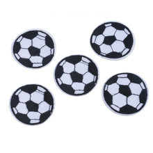 Urijk 5Pcs/Set Cute Soccer Embroidered Iron On Patch DIY Crafts Patches For Clothing Jeans Kid's Cloth Patchwork Appliques(China)