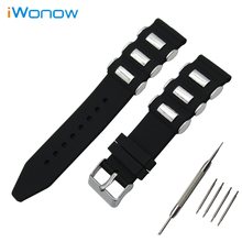 Silicone Rubber Watch Band 21mm 22mm 23mm 24mm 25mm 26mm Universal Watchband Stainless Pin Buckle Strap Wrist Belt Bracelet