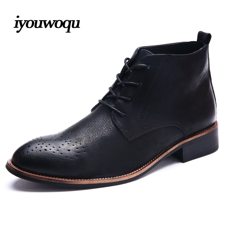 2017 New Spring/Autumn Mens High Casual shoes Bullock shoes For Men Breathable comfort British style Men dress shoes size 38-43<br><br>Aliexpress