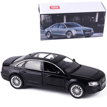 1:32 alloy car models,for  AUDI A8 high simulation model,metal casting,toy vehicles,pull back & flashing & musical