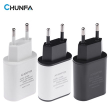 CHUNFA New EU Plug USB Charger 2A Safe Fast Charging USB Adapter Europe Travel Wall Charger for iPhone 5 6 6S Plus for Samsung