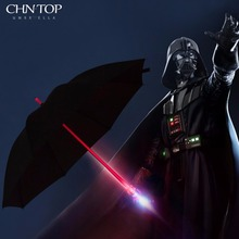 LED Flashlight Umbrella Men 7 Color Lightsaber Laser Sword Transparent Car Golf Umbrella Rain Women Night Protection Umbrella