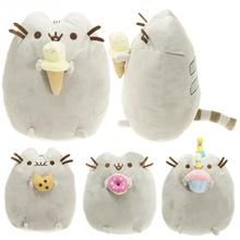2017 children baby doll Fat Pusheen Cat Cookie & Icecream & Doughnut & Cake Stuffed & Plush Animals Toys for Girls