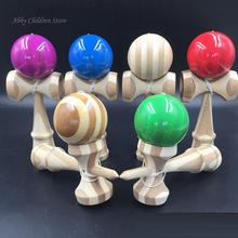 Bamboo Kendama Professional Bamboo Toy Kendama Skillful Juggling Ball Game Toy Gift For Children Adult Christmas Toy Gift