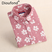Dioufond Winter Floral Print Flannel Long Sleeve Blouse Warm Shirts Women Casual Autumn Tops Blusas 2017 Plus Size S-5XL(China)