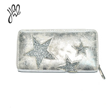 Fashion Wallets And Purses New Elegant Clutch Wallet Bling Star Lady Wallet PU Leather Factory Sale Purse Card Holder 500744(China)