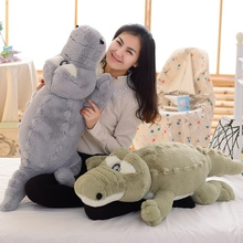 1pcs 110cm New Arrival Stuffed Animals Big Size Simulation Crocodile Plush Toy Cushion Pillow Toys For Girl