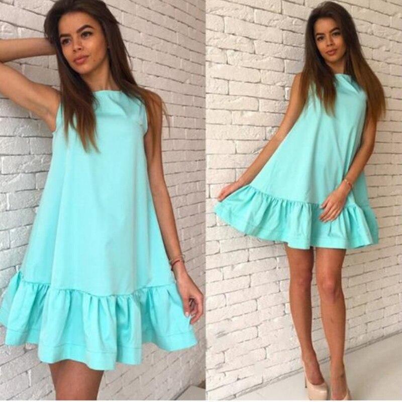 Модное платье с воланом